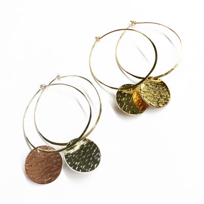 Cassidy Hoops - Gold Fill