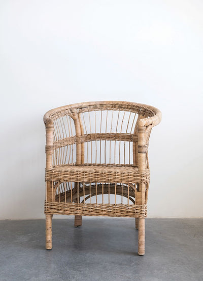 Hand Woven Rattan Arm Chair