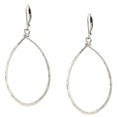 Hanna Hammered Hoops - Sterling Silver