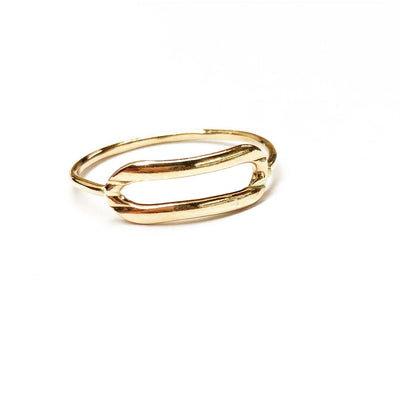 Krystal Link Ring - Gold Fill