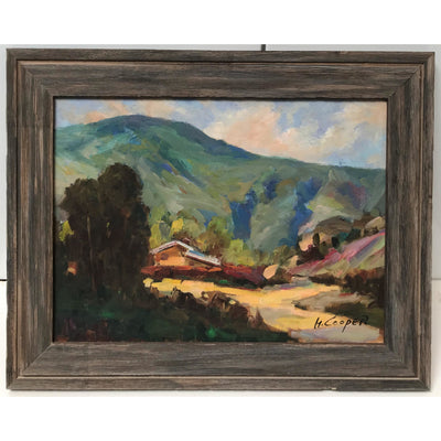 """Below the Hills""  Framed Landscape Painting"