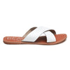 Pebble White Leather Sandal