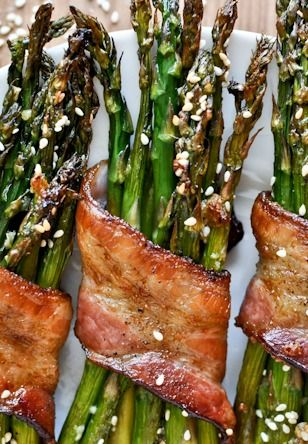 Air Fried Asparagus and bacon