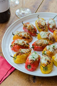 Air Fried Stuffed Baby Sweet Peppers