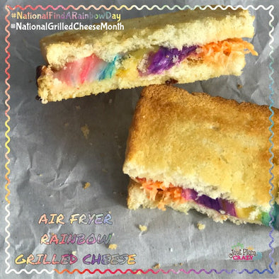 Grilled Cheese Rainbow Sandwich Air Fryer Recipe