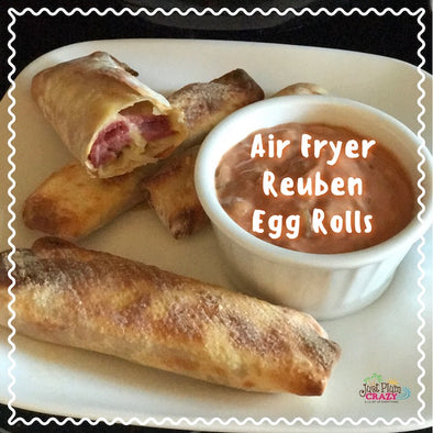 Air Fryer Reuben Egg Rolls Recipe By Just Plum Crazy