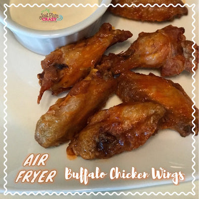 Buffalo Style Skinny Chicken Wings Air Fryer Recipe