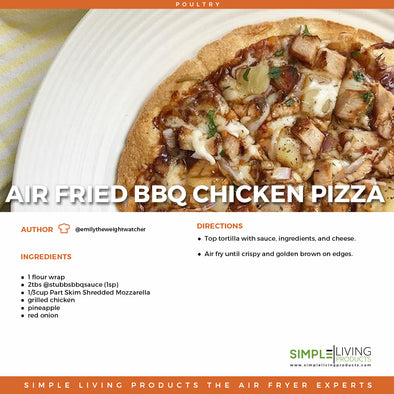 Air Fried BBQ Chicken Pizza