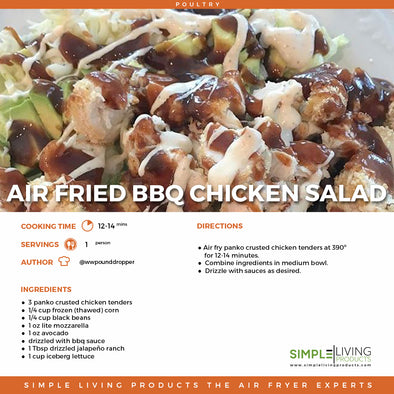 Air Fried BBQ Chicken Salad