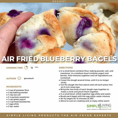 Air Fried Blueberry Bagels