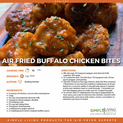 Air  Fried Buffalo Chicken Bites