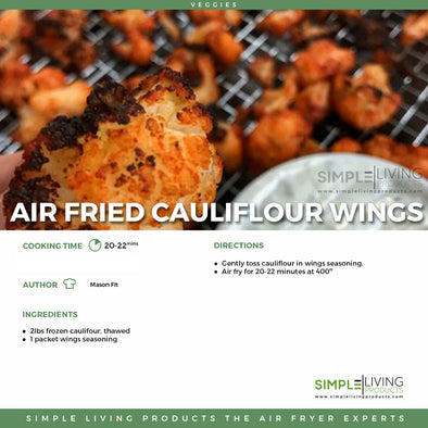 Air Fried Cauliflour Wings