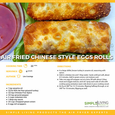 Air Fried Chinese Style Egg Rolls