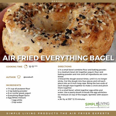 Air Fried Everything Bagel