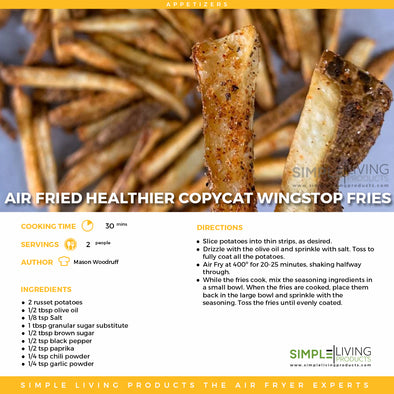 Air Fried Copycat Wingstop Fries