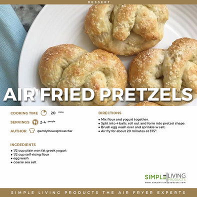 Air Fried Pretzels