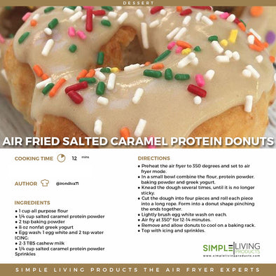 Air Fried Salted Caramel Protein Donuts
