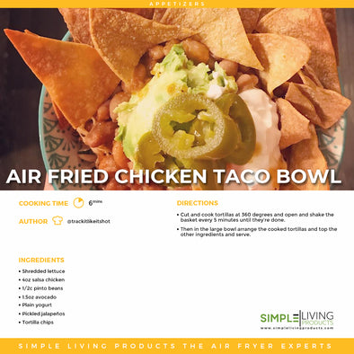 Air Fried Chicken Taco Bowl