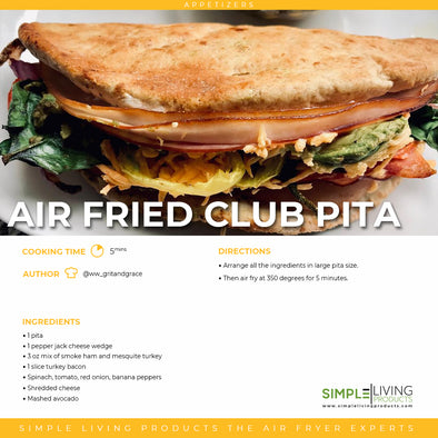 Air Fried Club Pita