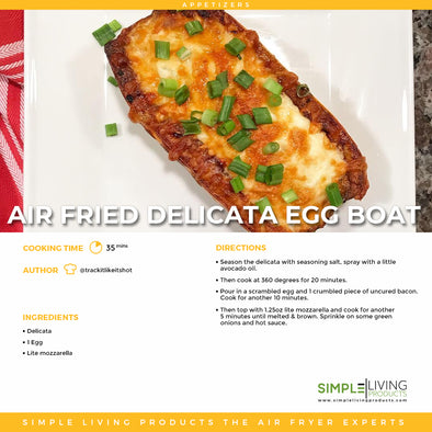 Air Fried Delicata Egg Boat