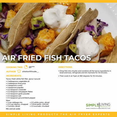 Air Fried Fish Tacos