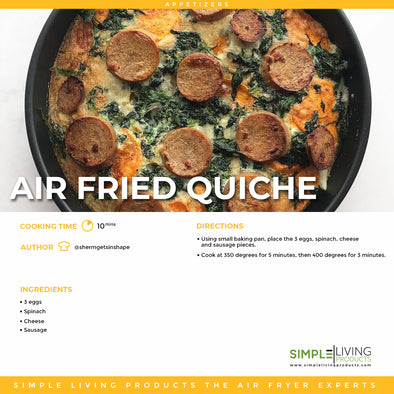 Air Fried Quiche