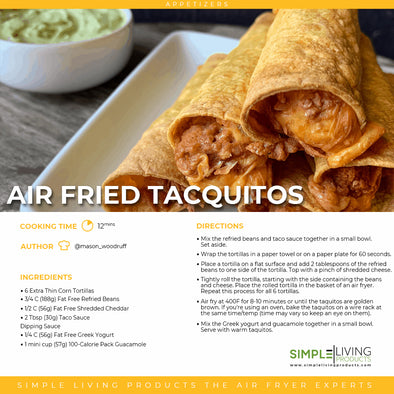 Air Fried Taquitos
