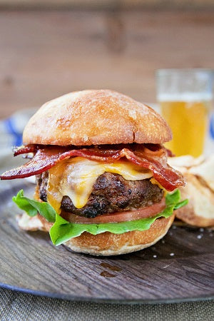 Bourbon Bacon Burger Air Fryer Style