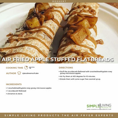 Air Fried Apple Stuffed Flatbreads