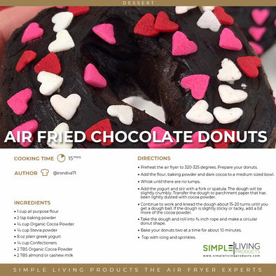 Air Fried Chocolate Donuts