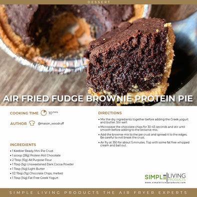 Air Fried Fudge Brownie Protein Pie