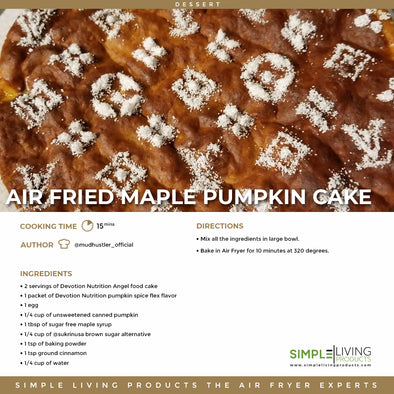 Air Fried Maple Pumpkin Pie