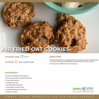 Air Fried Oat Cookies