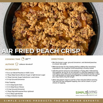Air Fried Peach Crisp