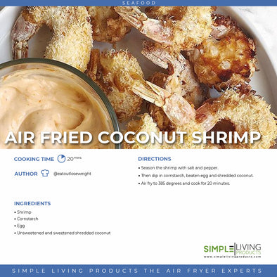 Air Fried Coconut Shrimp
