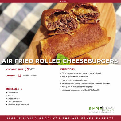 Air Fried Rolled Cheeseburgers