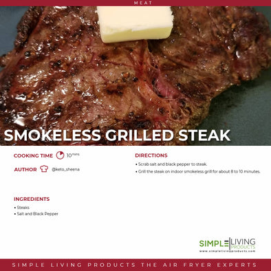 Smokeless Grilled Steak