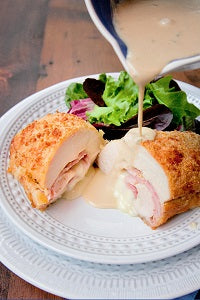 Parmesan Crusted Chicken Cordon Bleu Air Fryer Recipe