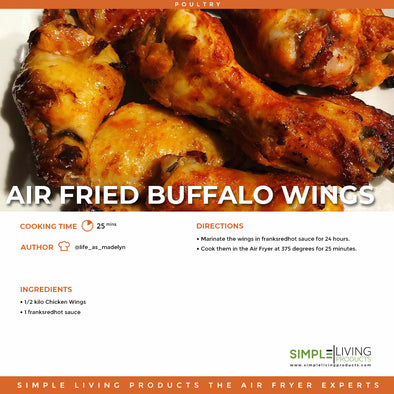 Air Fried Buffalo wings