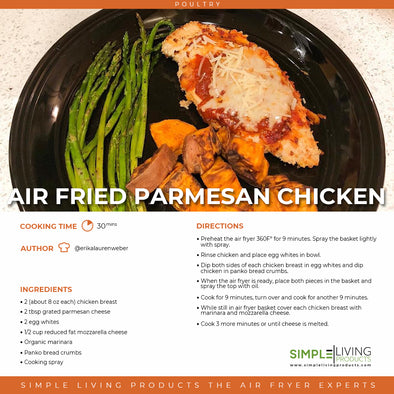 Air Fried Parmesan Chicken
