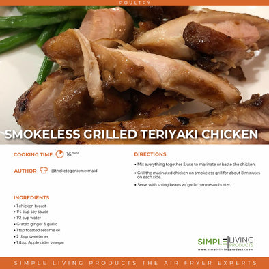 Smokeless Grilled Keto Teriyaki Chicken
