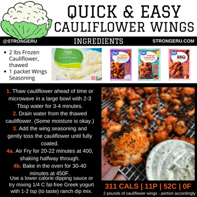 HOW TO MAKE CAULIFLOWER WINGS IN AN AIR FRYER