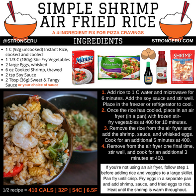 SHRIMP FRIED RICE IN THE AIR FRYER