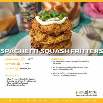 Air Fried Spaghetti Squash Fritters
