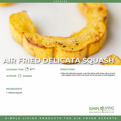 Air fried delicata squash