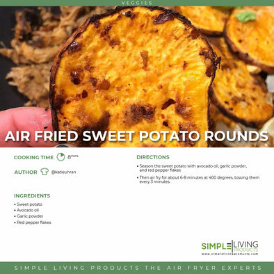 Air Fried Sweet Potato Rounds