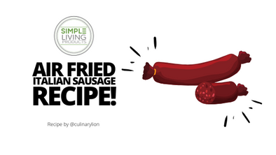 Italian Sausages and Peppers made in the Simple Living Products Air Fryer!