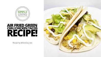 Green Chili Chicken Tacos? Yes, Please.