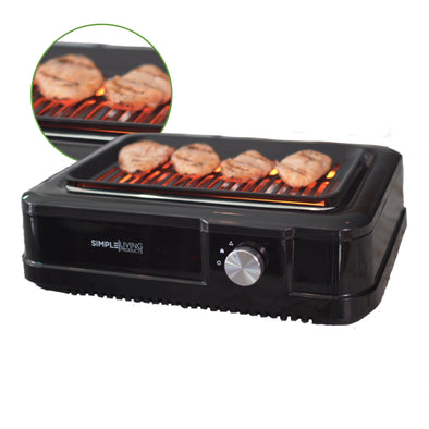 Simple Living Products Indoor Smokeless Grill With Infrared Technology & Zero Smoke.