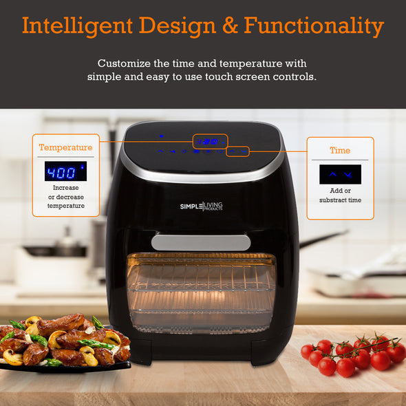 12Qt Digital Air Fryer Oven with Rotisserie & Dehydrator